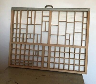 Wooden Printer's Type Tray Drawer Case Print Letterpress Miniatures  Display