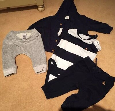 Next  & Gap Baby Boys Navy Grey Bundle Age 3-6 Months