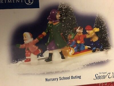 Dept 56 Original Snow Village Nursery School Outing #799969 Pre-Owned Mint