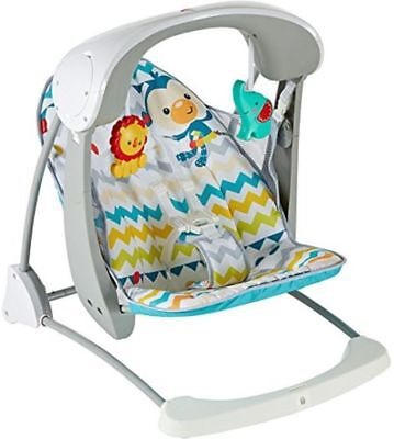Fisher Price 2 in 1 Swing & Seat Colourful Carnival Take Along Songs Sounds Fold