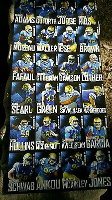 2016 Ucla Bruins Team Issue Card Set Takkarist Mckinley Adams Walker Fafaul Sga