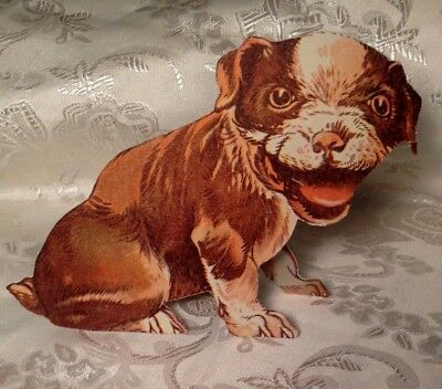 Vintage Dog Cut Out - Boston Terrier Puppy - 1930's