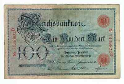 Germany Reichsbanknote 100 Mark Berlin 1907