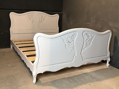 Vintage French Double size bed/ Painted French bed shabby chic style(VB263)