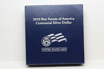 2010-P Proof Boy Scouts of America Commemorative Silver Dollar Coin COA OGP