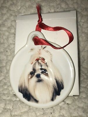 Shih Tzu Christmas Ornament NIB