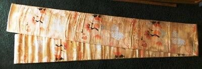 Vintage Japanese Obi, Two-sided, 155 x 12-1/2 inches