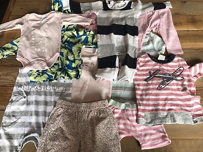Girls' Baby Bundle - Bonds, Pure Baby + More - 11 Pieces - Size 000