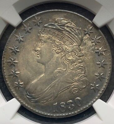 1830 50C Capped Bust Half Dollar | Ngc Certified Au Details | Toned