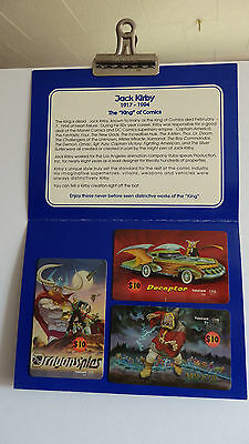 The Unseen Works Of Jack Kirby 3-Card Phone Card Set In Folder-Ruby Spears-New