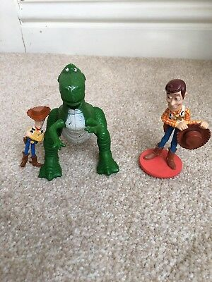 Toy Story Figures, Rex The Dinosaur And Woody