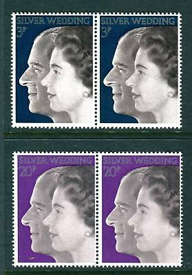 1972 GB Royal Silver Wedding pairs UM. Block. SG 916 - 917