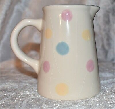 Laura Ashley Multi Coloured Spotted Ceramic Jug Good Condition