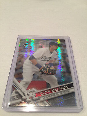 2017 Topps Chrome Cody Bellinger Los Angeles Dodgers Prism Refractor rookie #79