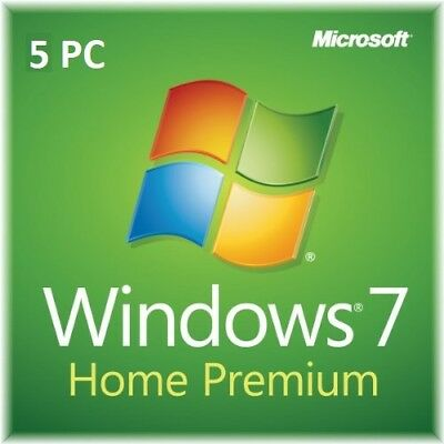 MS Windows 7 Home Premium 1/2/3/4/5 PC - 32&64 Bits OEM - Produktkey per email