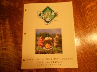 Charming Tails by Fitz and Floyd RARE retired collectibles brochure from 2000 an