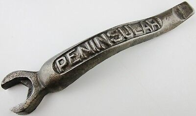 Antique Vintage Peninsular Wood Stove Lid Lifter Wrench Tool Cast Iron 5-1/2''