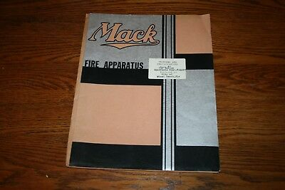 1941 Mack Fire Apparatus Proposal and Specifications Miami Beach Florida