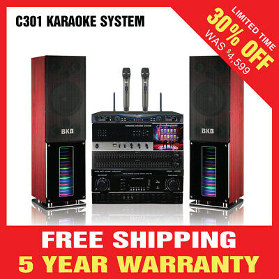 1600w Complete Karaoke System Package C301 Speaker Amplifier