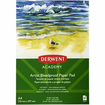 Derwent Academy A4 Bleed-proof Paper Pad 75gsm 50 Sheets