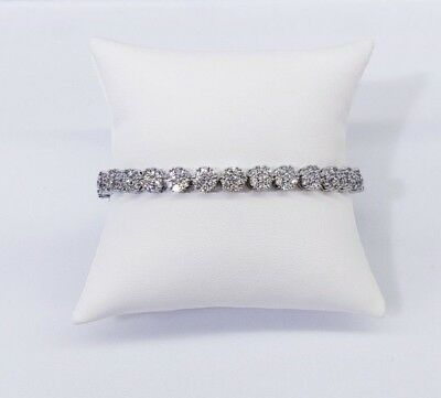 Tennies Brecelet 14Kt White Gold Finish 13 Ct Vs1 Crystals