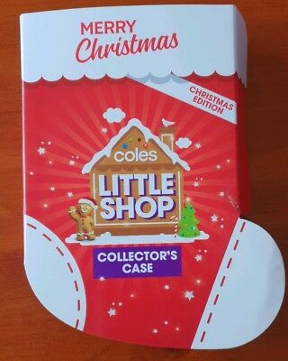 1x Coles Christmas Little Shop Collector Case - Case with full set of minis