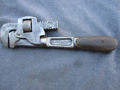 "Vntg/ Antq H.d. Smith 8"" Pipe Wrench ""perfect Handle Patented"" Made In The Usa"