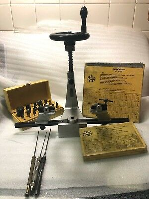 BERGEON BUSHING TOOL NO. 6200 MACHINE with ACCESSORIES and BUSHINGS