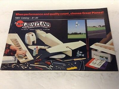 Preowned 1984 Great Planes Product Catalog