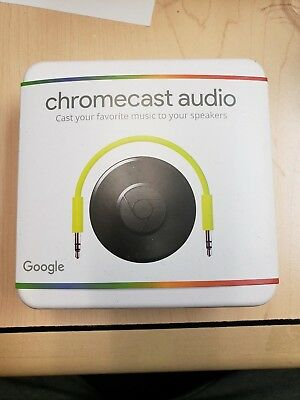 Google Chromecast Audio Media Streamer Black BRAND NEW SEALED 🔥 🔥 🔥