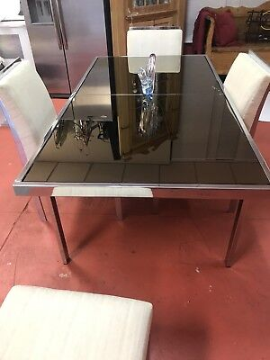 Vintage Pierre Cardin MidCentury Modern Chrome Brass Dining Room Table And Chair