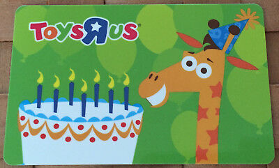 Toys R Us Gift Card Rare Giraffe **rechargeable Bilingual No Value/0$** Mint !!!
