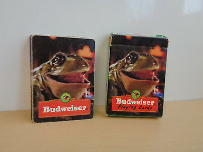 Vintage Budweiser Playing Cards with Box