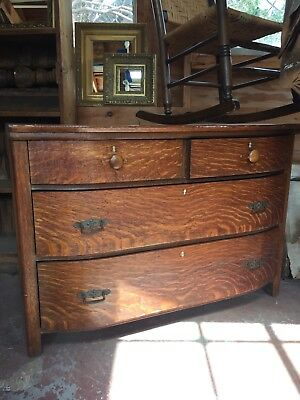 Antique oak dresser- With Rounded Front