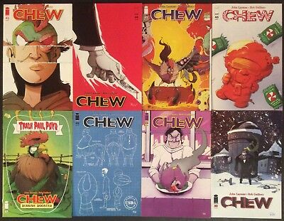 Lot of 8 ~ Chew #43, 44, 45, 46, 47, 48, 49, 50 Image Rob Guillory