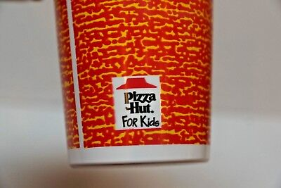 NOS Vtg 1993 Pizza Hut Cup Plastic Glass Cheese Tomato Sauce Pattern Collectible