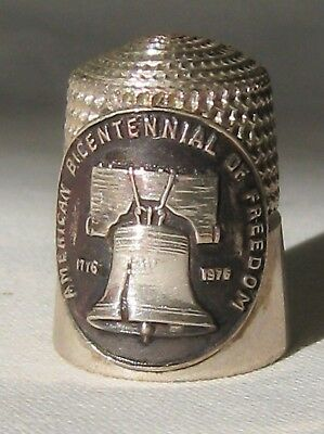 Simons Bro Sterling Silver Liberty Bell American Bicentennial of Freedom Thimble