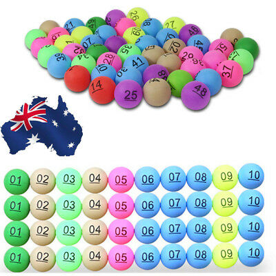 Number 1-200 Colorful Ping Pong Ball Beer Table Tennis Lucky Dip Gaming Lottery