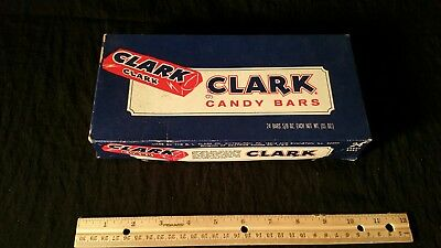 Vintage Clark Candy Bar Advertising Box Beatrice Foods.  24 for 98 cents
