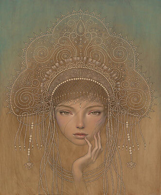 Audrey Kawasaki Charlotta Original Art Print Mint Condition Signed OOP Rare