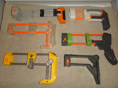 Nerf Butt Stock Lot OF 6 DIFFERENT MODS CUSTOMIZE YOUR WEAPON COMBO ENDLESS NICE