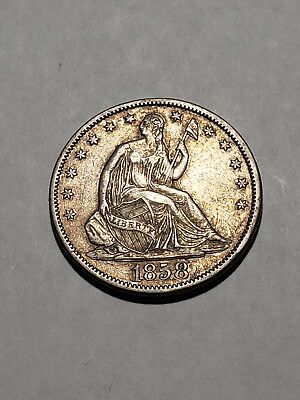 1858 S Seated Liberty Half Dollar - Low Mintage