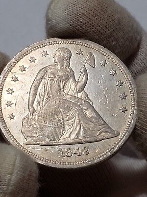 1842 Seated Liberty Dollar - Low Mintage