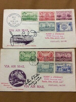 James Calvert And William Knowlton Signed Covers Military Leaders