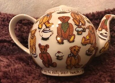 ***Paul Cardew Teapot Teddy Bear Picnic Design. England. Pitcher. Collectible.**