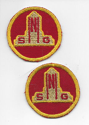 Two (2) Nebraska State Guard (1943-1947) Hat Patches