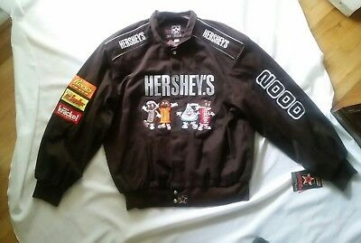 Hershey's Chocolate Brown JH Design Button Jacket 2000 Cotton USA NWT  New XL