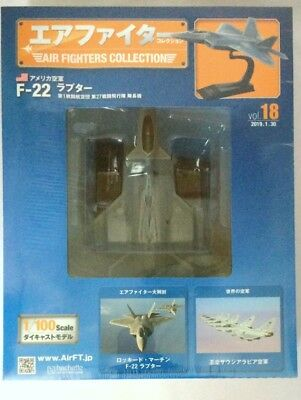 Air Fighters Collection 18 Lockheed Martin F-22A Raptor USAF 1:100 Diecast Model