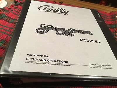BALLY GAME MAKER Slot Machine Setup and operations  manual (MODULE 2)