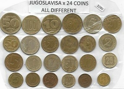 JUGOSLAVISA x 24 Mixed  Coins ALL DIFFERANT